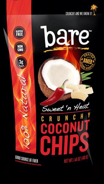 Bare Fruit - Bare Fruit Coconut Chips Sweet `N Heat 40g (6 Pack)