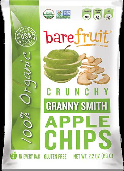 Bare Fruit - Bare Fruit Granny Smith Apple Chips Organic 63g (6 Pack)