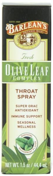 Barleans - Barleans Olive Leaf Complex Throat Spray Peppermint 1.5oz