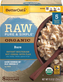 Better Oats - Better Oats Raw Pure & Simple Bare 8 Pouches (6 Pack)