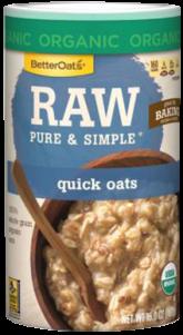 Better Oats - Better Oats Raw Pure & Simple Quick Oats 16 oz (6 Pack)