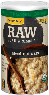 Better Oats - Better Oats Raw Pure & Simple Steel Cut Oats 16 oz (6 Pack)