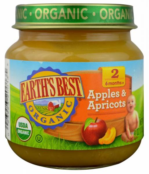 Earth's Best  - Earth's Best Baby Foods Organic Apples & Apricots 4 oz (12 Pack)