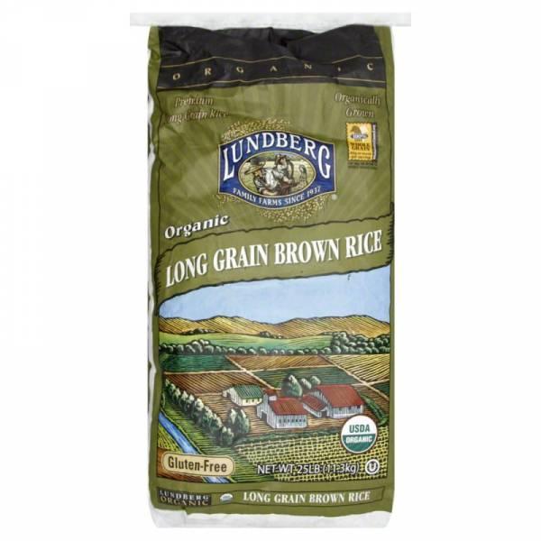 Lundberg Farms Organic Long Brown Rice 25 lbs