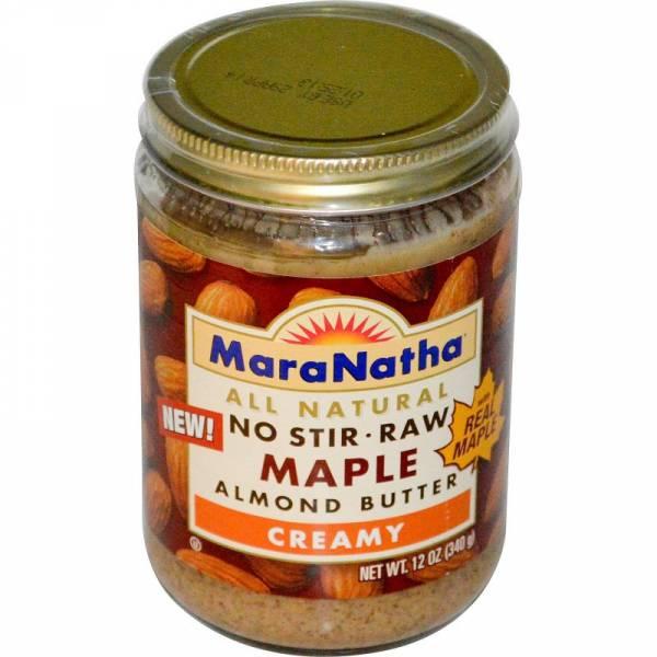 Maranatha Natural Foods - Maranatha Natural Foods No Stir Almond Butter 16 oz - Raw Maple (6 Pack)