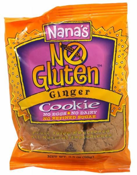 Nana's Cookie - Nana's Cookies Gluten Free Cookie 3.5 oz - Ginger (12 Pack)