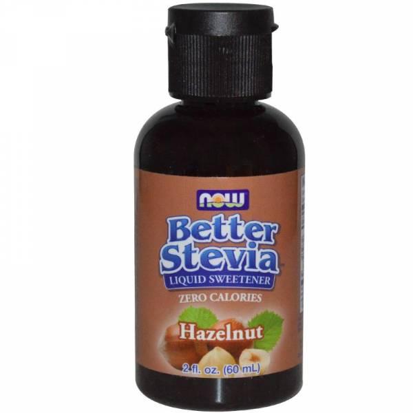 Now Foods - Now Foods BetterStevia Liquid Extract 2 oz - Hazelnut