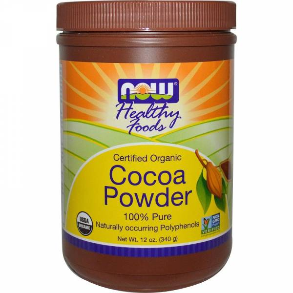 Now Foods - Now Foods Cocoa Powder Certified Organic 12 oz