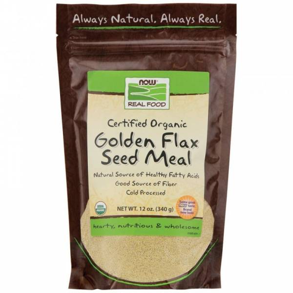 Now Foods - Now Foods Golden Flax Seed Meal Certified Organic 12 oz
