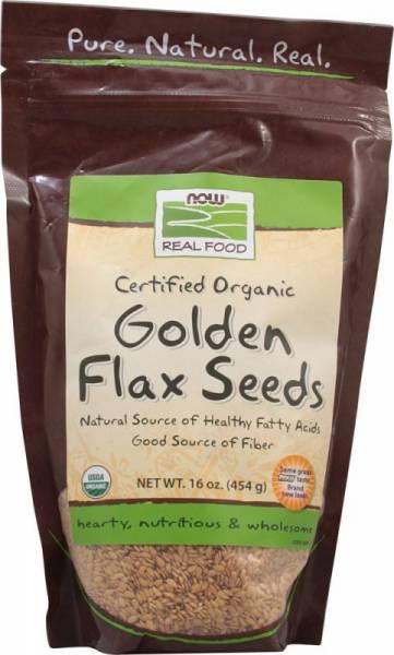 Now Foods - Now Foods Golden Flax Seeds Certified Organic 16 oz