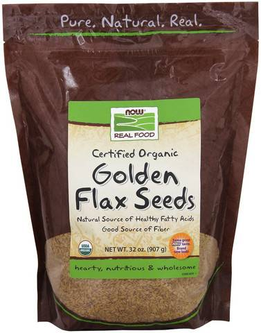 Now Foods - Now Foods Golden Flax Seeds Certified Organic 2 lb