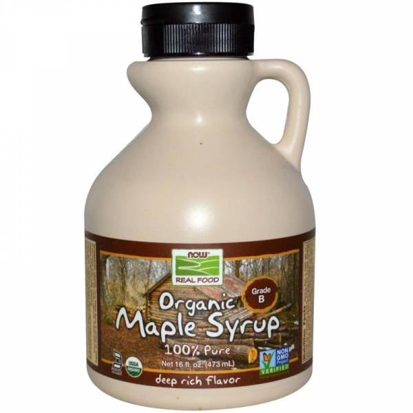 Now Foods - Now Foods Maple Syrup Grade B Certified Organic 16 oz