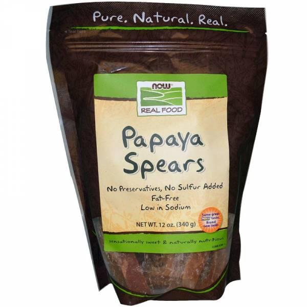 Now Foods - Now Foods Papaya Spears Low Sugar 12 oz