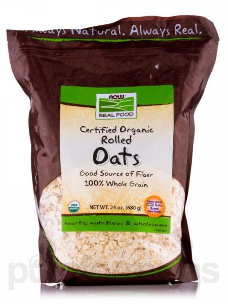 Now Foods - Now Foods Rolled Oats Certified Organic 24 oz