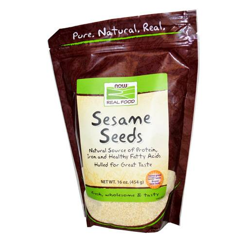 Now Foods - Now Foods Sesame Seeds Hulled 1 lb