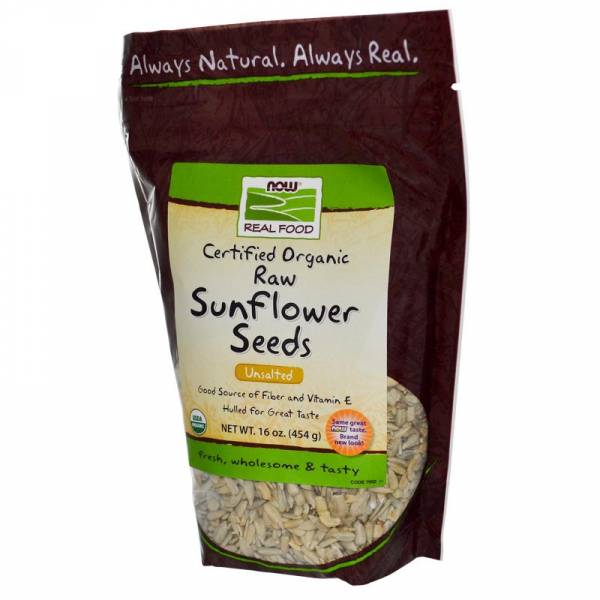 Now Foods - Now Foods Sunflower Seeds Certified Organic Raw Unsalted 16 oz