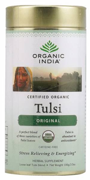 Organic India - Organic India Tulsi Tea Original Canister 3.5 oz