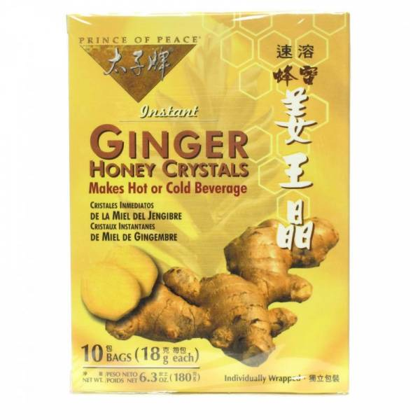 Prince Of Peace - Prince Of Peace Ginger Honey Crystals 10 bag