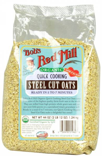 Bob's Red Mill - Bob's Red Mill Organic Quick Cook Steel Oats 22 oz (4 Pack)
