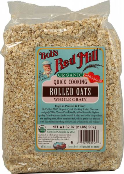 Bob's Red Mill - Bob's Red Mill Organic Rolled Quick Oats 16 oz (4 Pack)