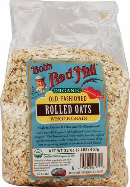 Bob's Red Mill - Bob's Red Mill Organic Rolled Regular Oats 16 oz (4 Pack)