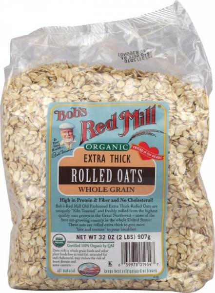 Bob's Red Mill - Bob's Red Mill Organic Rolled Thick Oats 32 oz (4 Pack)