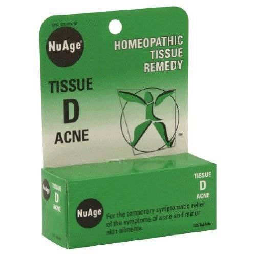 Hylands - Hylands NuAge Tissue D Acne 125 tab