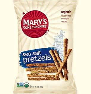 MARY`S GONE CRACKERS - Mary's Gone Crackers Sea Salt Pretzels 7.5 oz (12 Pack)