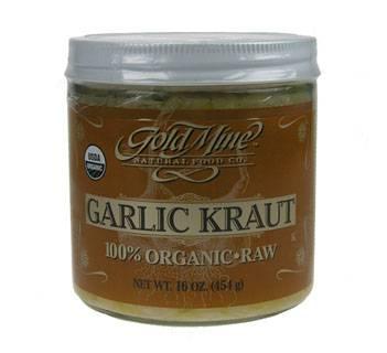 Goldmine - Goldmine Gold Mine Organic Raw Garlic Kraut 16 oz