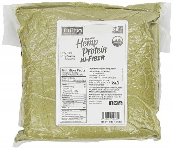 Nutiva - Nutiva Organic Hemp Protein Hi Fiber 3 lbs
