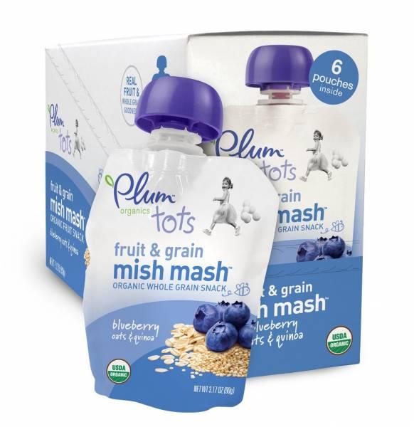 Plum Organics - Plum Organics Tots Fruit and Grain Mish Mash, Blueberry, Oats and Quinoa 3.17 oz (6 Pack)