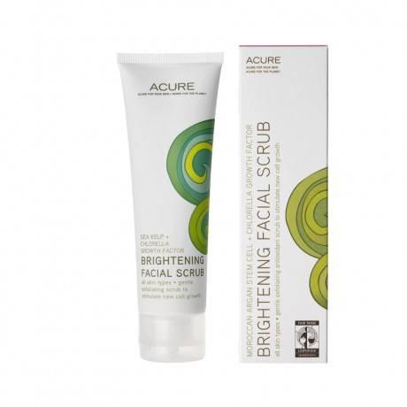 Acure Organics - Acure Organics Brightening Facial Scrub Moroccan Argan Stem Cell + Chlorella Growth Factor 4 oz