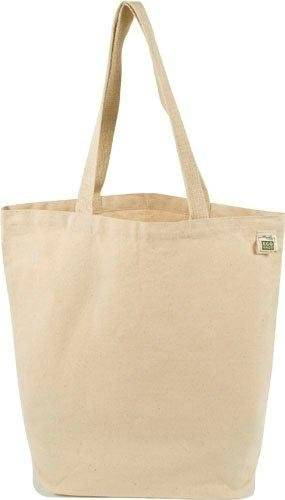 Eco-Bags Products - Eco-Bags Products Book Tote 16x15.5 Recycled Cotton Blank Canvas