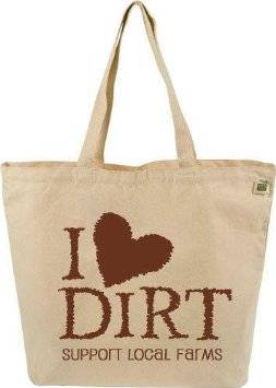 Eco-Bags Products - Eco-Bags Products Farmer's Market Tote Graphic: I Love Dirt