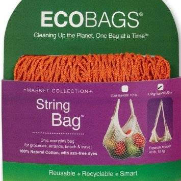 Eco-Bags Products - Eco-Bags Products String Bag Long Handle Natural Cotton Chili