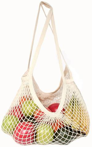 Eco-Bags Products - Eco-Bags Products String Bag Long Handle Natural Cotton Natural