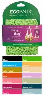 Eco-Bags Products - Eco-Bags Products String Bag Long Handle Natural Cotton Sage