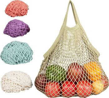 Eco-Bags Products - Eco-Bags Products String Bag Long Handle Natural Cotton Set-Assorted Pastels