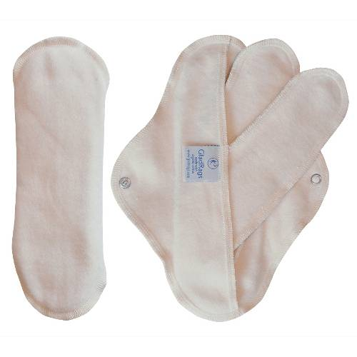 Glad Rags - Glad Rags Natural Day Pad Plus made with Organic Cotton Pack