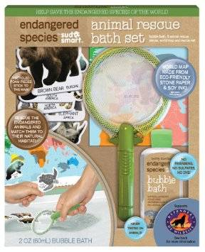 Health Science Labs - Endangered Species Animal Coloring Bath Set 2 oz - Small