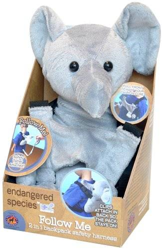 Health Science Labs - Endangered Species Follow Me Backpack/Safety Tail - Elephant