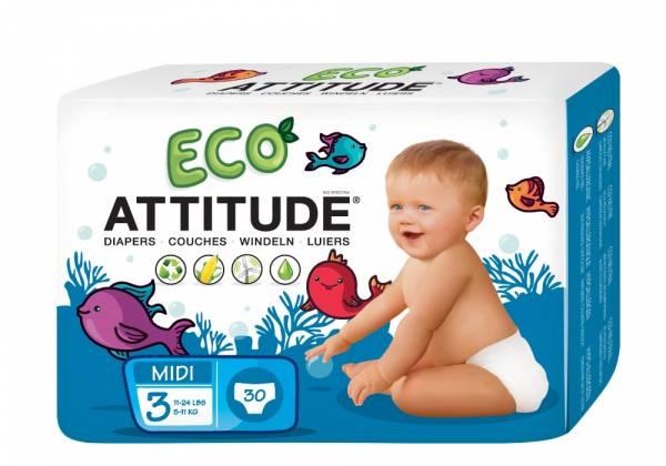 Attitude - Attitude Diapers Size 3 (13-28 LBS) 30 ct