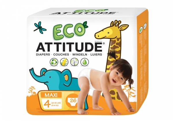 Attitude - Attitude Diapers Size 4 (22-37 LBS) 26 ct