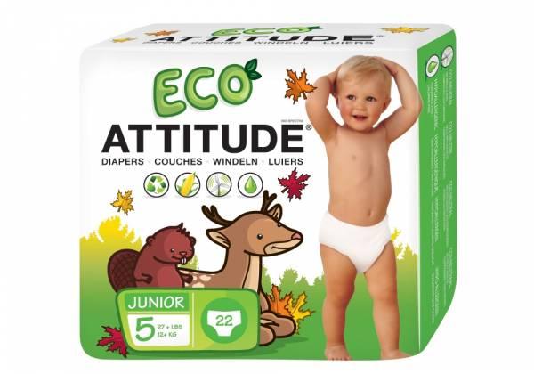 Attitude - Attitude Diapers Size 5 (27 LBS +) 22 ct
