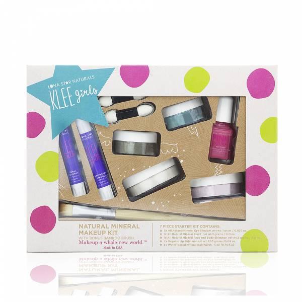 Luna Star Naturals - Luna Star Naturals Klee Girls Far and Wide Makeup Kit with Bamboo Brush 8 pc