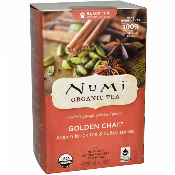 Numi Teas - Numi Teas Golden Chai Black Tea 18 bag