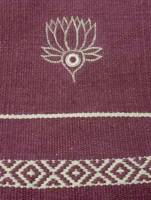 Yoga - Accessories - Barefoot Yoga - Barefoot Yoga Practice Rug with Embroidered Lotus - Rajasthan
