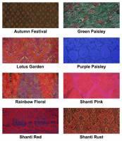 Yoga - Meditation - Barefoot Yoga - Barefoot Yoga Silk Sari Zafu Meditation Cushion with Carry-all Yoga Bag - Rainbow Floral