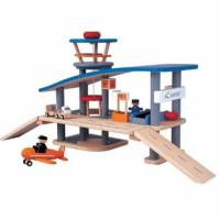 Toys - Baby & Toddler Toys - Plan Toys - Plan Toys Airport - Wooden Roof