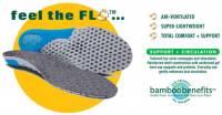 Fitness & Sports - Support Accessories - Earth Therapeutics - Earth Therapeutics Circuflo Odor Absorbing Massage Support Insoles - Large